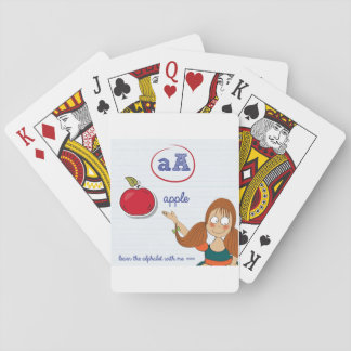 Learning The Alphabet Playing Cards
