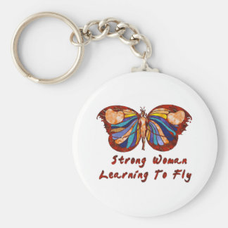 Learning To Fly Basic Round Button Keychain