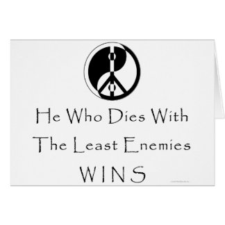 Least Enemies Card