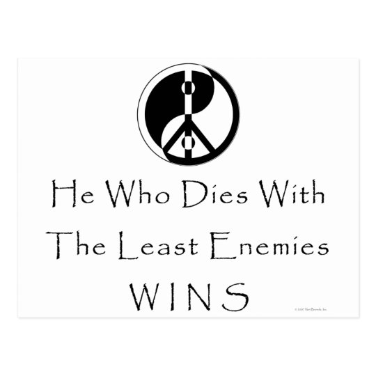 Least Enemies Postcard