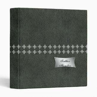 Leather and Chrome Effect Printed Binders