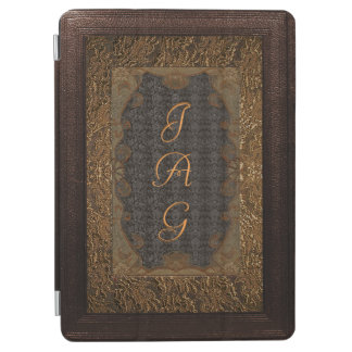 Leather And Gilded Lace Frame Monogram iPad Air Cover
