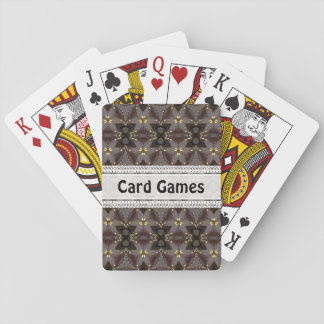 Leather and golden pattern playing cards