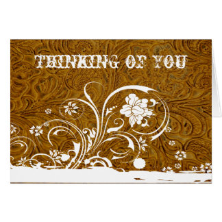 Leather and Lace Thinking of You Card