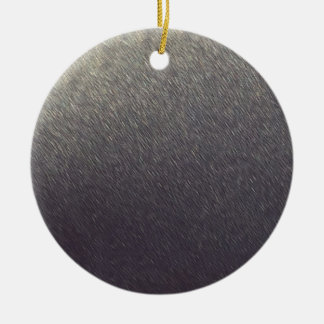 Leather background Sparkle Leather silver diy gift Round Ceramic Ornament