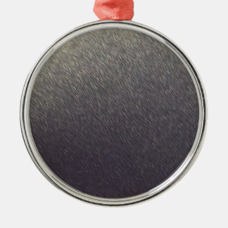 Leather background Sparkle Leather silver diy gift Silver-Colored Round Ornament
