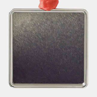 Leather background Sparkle Leather silver diy gift Silver-Colored Square Ornament