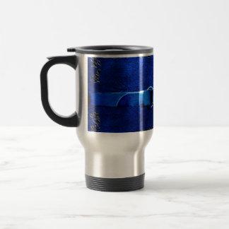 Leather & Belt Rich Blue Travel Mug Wrap
