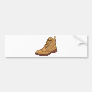 Leather Boot Sketch Bumper Sticker