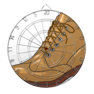 Leather Boot Sketch Dartboard