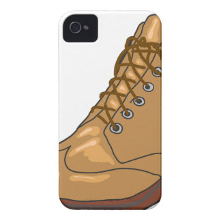 Leather Boot Sketch iPhone 4 Cases
