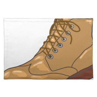 Leather Boot Sketch Placemat