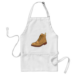 Leather Boot Sketch Standard Apron