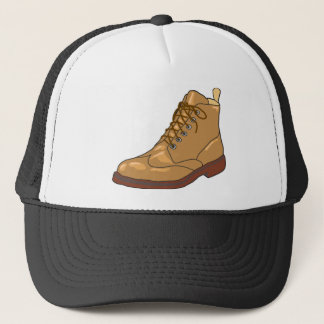 Leather Boot Sketch Trucker Hat