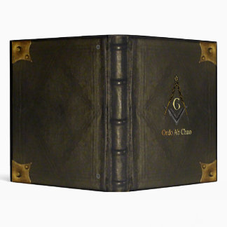 Leather Bound Book with Square and Compass Binder