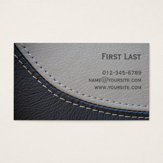 Leather. Business Card
