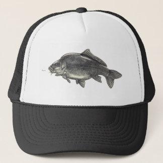 Leather Carp Fishing Trucker Hat