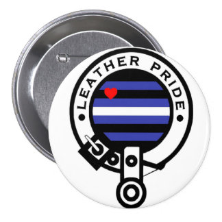 leather clan 3 inch round button