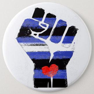 LEATHER DADDIES RESIST - LGBT RESISTANCE -- -  6 INCH ROUND BUTTON
