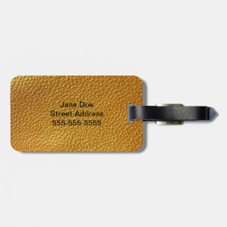 Leather Design Acrylic Luggage Tag