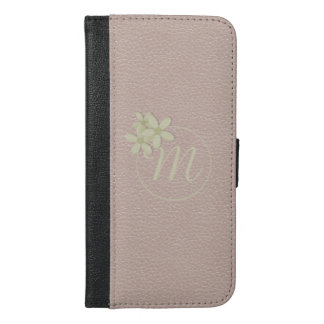 Leather Effect Rose Gold iPhone 6 Plus Wallet Case