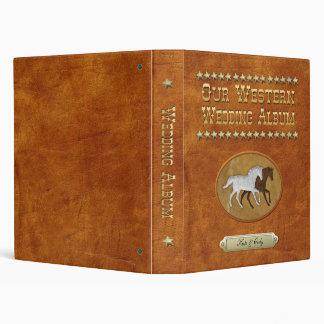 Leather & Lace Horses Vinyl Binders