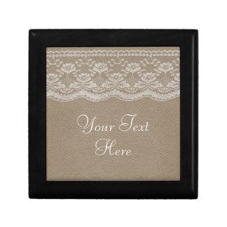 Leather & Lace Wedding Keepsake Box