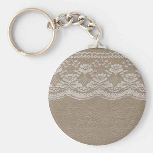 Leather & Lace Wedding Key Chain