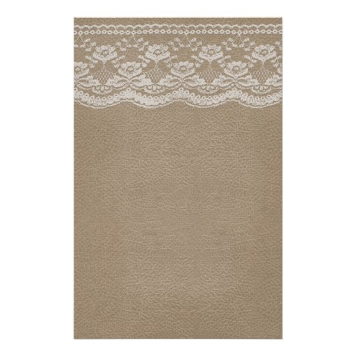 Leather & Lace Wedding Stationery Paper