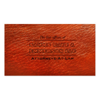 Leather Law Firm lawyer Attorney Business Card