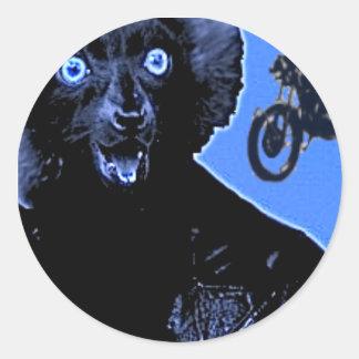 Leather Lemur Classic Round Sticker