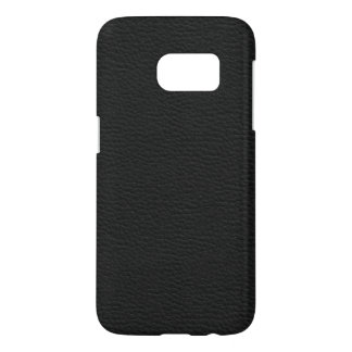 Leather like black samsung galaxy s7 case