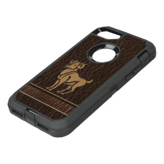 Leather-Look Aries OtterBox Defender iPhone 7 Case