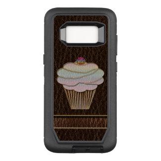 Leather-Look Baking Dark OtterBox Defender Samsung Galaxy S8 Case