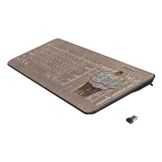 Leather-Look Baking Soft Wireless Keyboard