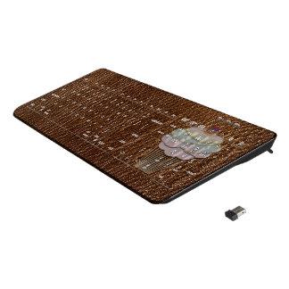 Leather-Look Baking Wireless Keyboard