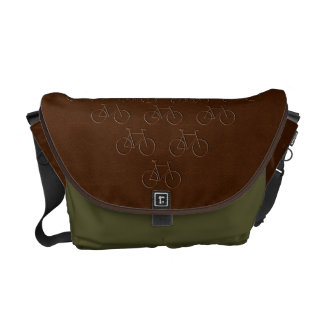 Leather-look Bicycle Rickshaw Messenger Bag