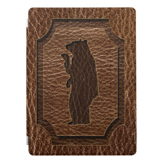 Leather-Look Black Bear iPad Pro Cover