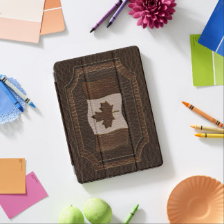 Leather-Look Canada Flag Dark iPad Pro Cover