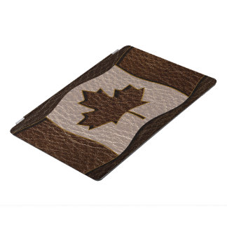 Leather-Look Canada Flag Dark iPad Pro Cover