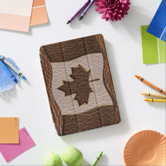Leather-Look Canada Flag iPad Pro Cover