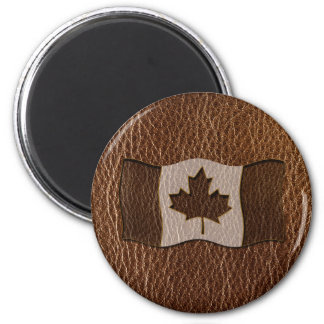 Leather-Look Canada Flag Magnet