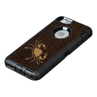 Leather-Look Cancer OtterBox Defender iPhone Case