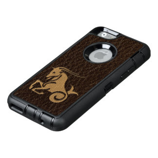 Leather-Look Capricorn OtterBox Defender iPhone Case