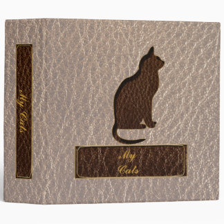 Leather-Look Cat Soft Binder