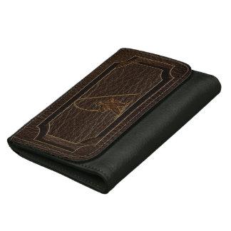 Leather-Look Fisherman Dark Wallet