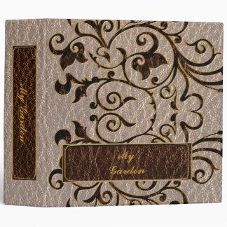 Leather-Look Flower 2 Soft Vinyl Binders