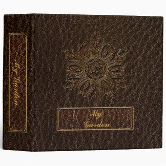 Leather-Look Flower Star Dark Vinyl Binder
