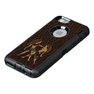 Leather-Look Gemini OtterBox Defender iPhone Case