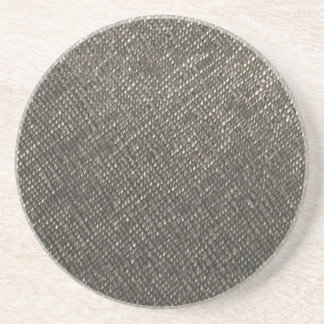 Leather look grey texture template diy add text drink coaster